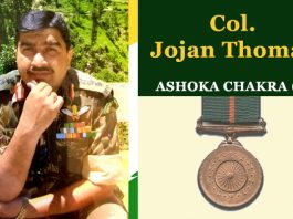 Colonel Jojan Thomas from thiruvalla in Kerala